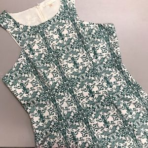 Under Skies Dress Casual White Green Size Large